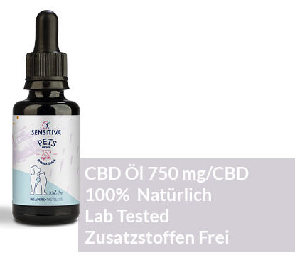 "Beschreibung CBD Öl für Pets 30 ml 2,5% - Sensitiva"""