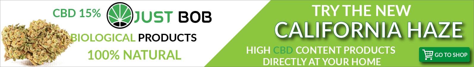 banner cbd online shop Justbob