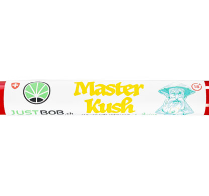 confezione di pre rolled di erba legale Master kush