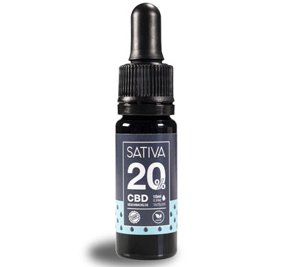 conteiner of 10 ml of oil Sativa of cbd at 20%