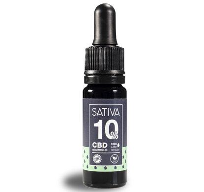 Flacone di olio Sativa di cbd al 10%
