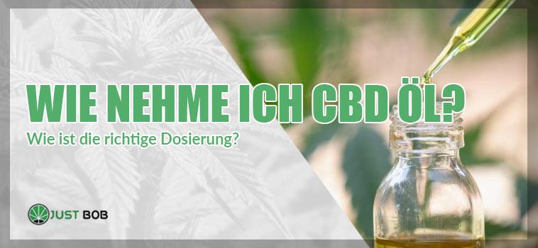 Wie nehme ich CBD Öl ? Wie ist die richtige Dosierung?