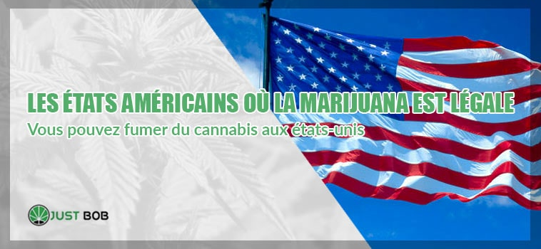 Les ètats americains où la marijuana est légale