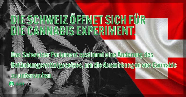 Die Schweiz öffnet sich für das Cannabis Experiment.