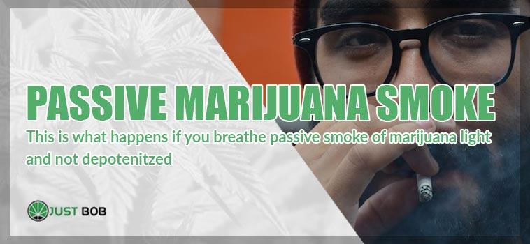 To breathe passive smoke of cbd cannabis