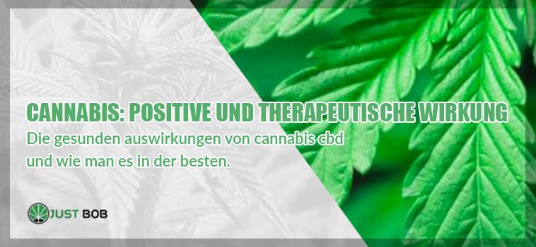 Cannabis: positive und therapeutische Wirkung