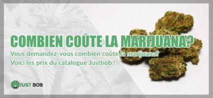Combien coûte la marijuana?