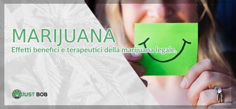 Marijuana: effetti benefici e terapeutici