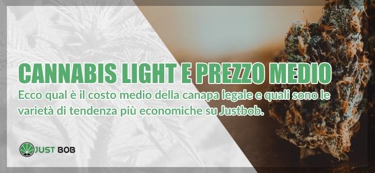 Cannabis light: prezzo medio e qualità
