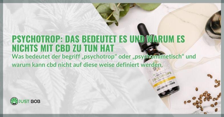 Psychotrop marihuana